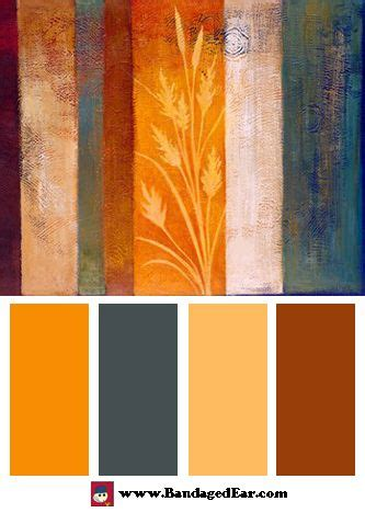 orange spice color orange color palette spice ii art print by vivien rhyan