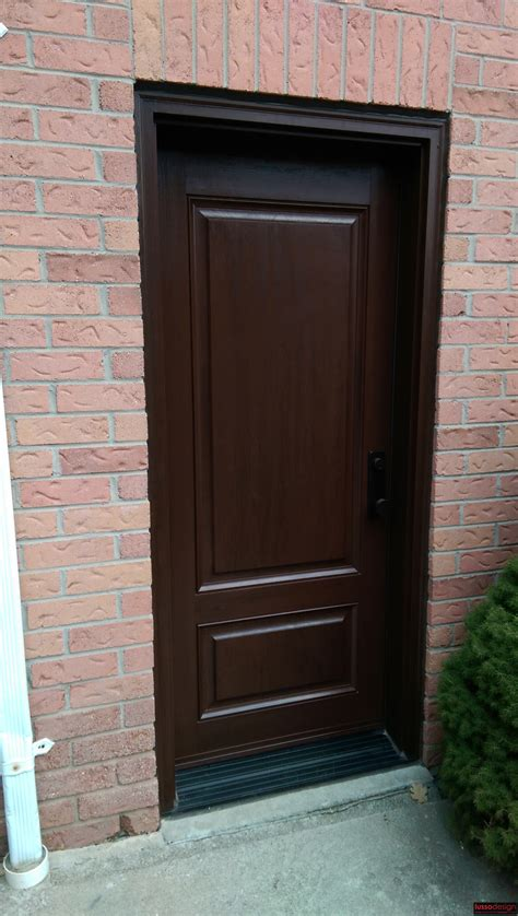 Stain For Fiberglass Exterior Doors Stained Fiberglass Door Lusso Design Entry Doors Door Inserts
