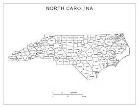 carolina labeled map