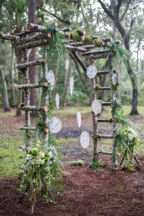Garden Arch Made From Branches 36 Wood Wedding Arches Arbors And Altars Weddingomania