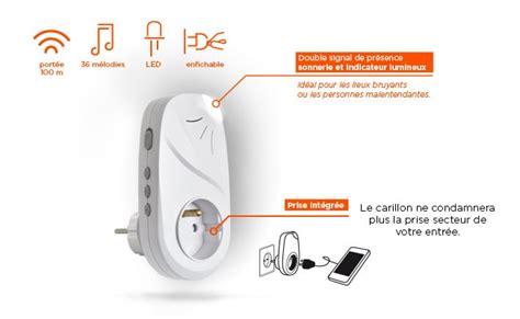 Prise Electrique Sans Fil 7370 by Carillon Sans Fil Enfichable Plugbell Light With