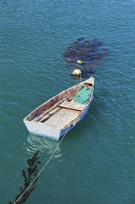 boat mooring floats a small dinghy floats on its mooring photograph by douglas