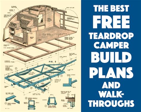 you build it plans best free teardrop trailer cer plans and walk throughs