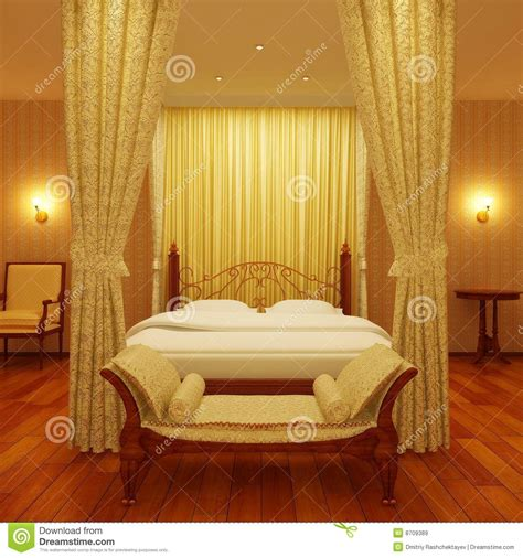 luxurious  poster bed royalty  stock images