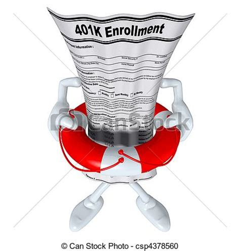 Drawing 401k by Stock Illustration Of 401k Form In Preserver 3d