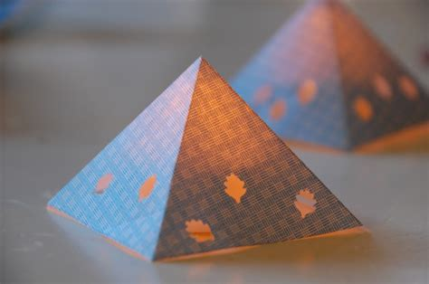 How To Make Lanterns From Paper - diy paper pyramid lanterns tinkerlab