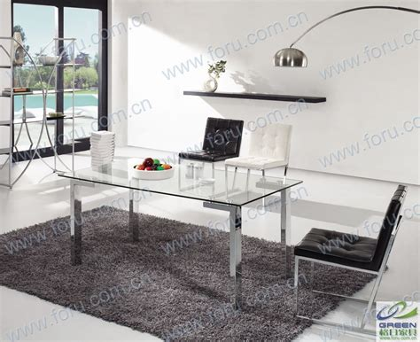 china modern stainless steel furniture roca dining table