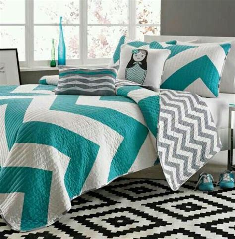 teal chevron bedding teal chevron twin xl dorm pinterest twin xl teal