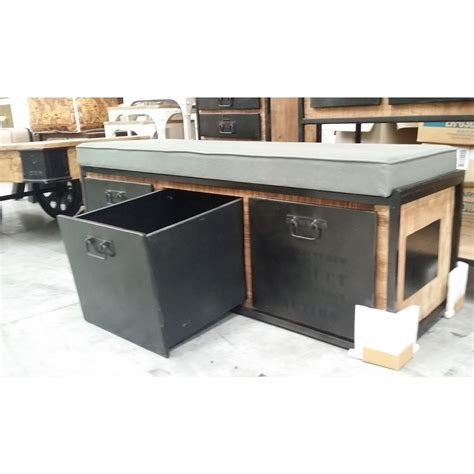 Bench Seat With Storage Industrial Storage Bench Seat Bare Outdoors