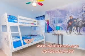 Ranjang Anak Frozen tempat tidur tingkat frozen kamar set kamar set