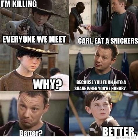 Carl Meme Walking Dead - carl eat a snickers weknowmemes