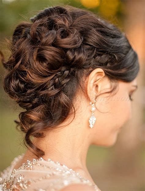 wedding hairstyles braids curls curly wedding updos curly wedding updo with braid