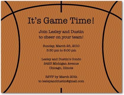Invitation Letter Basketball League Time Basketball Invitation Postcards In Rust Hawkins Designs