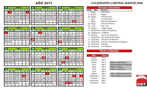 Calendario Laboral Cgt Tepsa Calendario Laboral