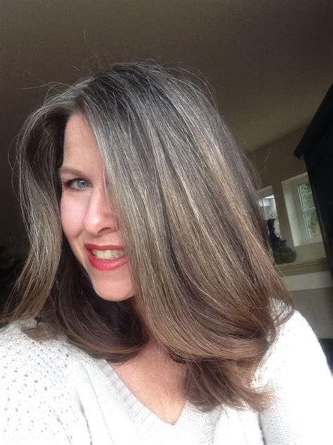growing out hair color quot growing out gray hair 14 months of growth february 2015