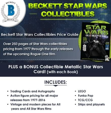 beckett wars collectibles 2 beckett wars collectibles price guide books wars collectibles price guide from beckett and scifi