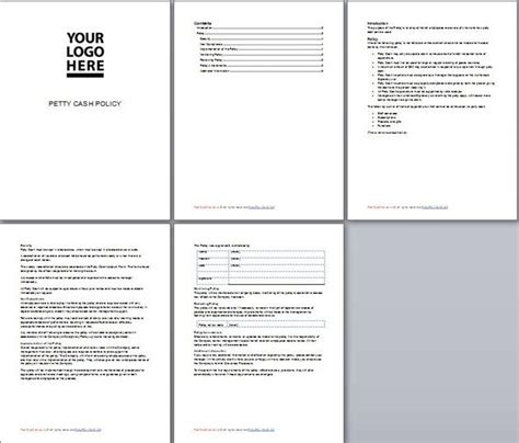petty policy template petty policy template business documents business