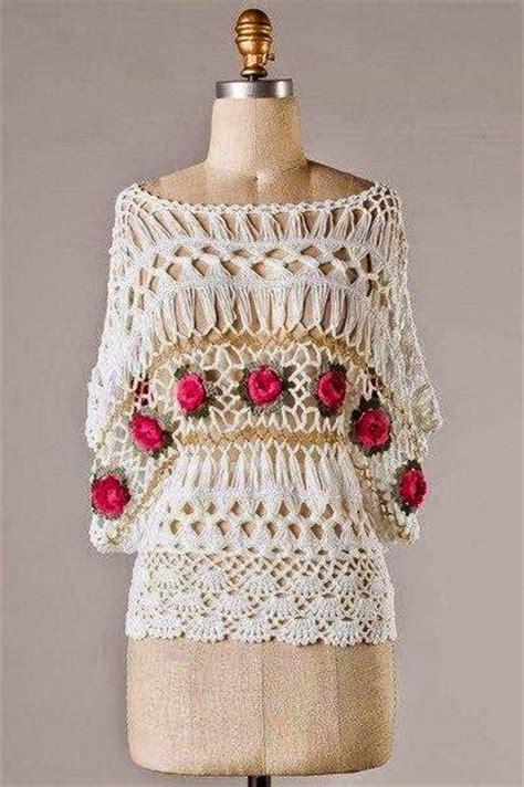 blusas de orquilla blusa tratando de tejer prendas tejidas blusa elegante tejida al crochet y horquilla crochet y