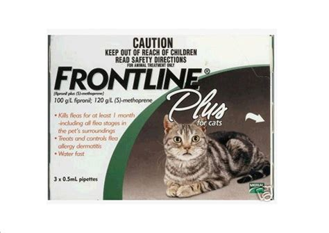 frontline plus for cats frontline plus for cats 6 pipettes