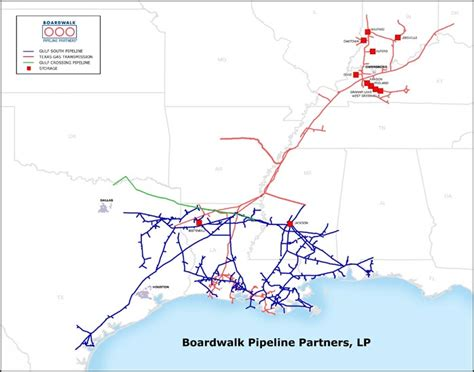 pipeline map texas boardwalk pipeline partners pipeline map