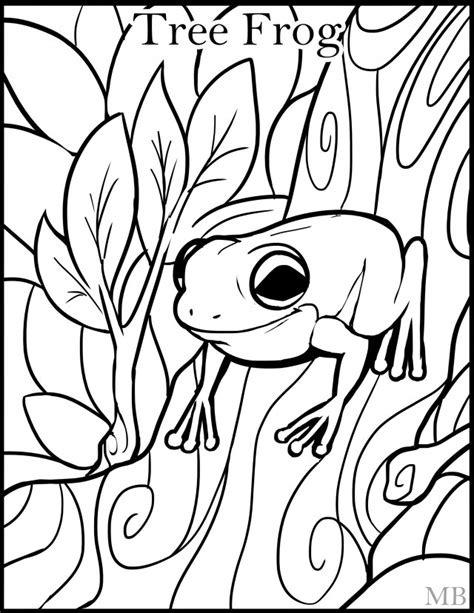 coloring pictures of tree frogs tree frog coloring pages az coloring pages