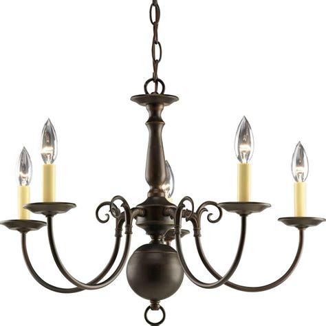 5 light bronze chandelier progress lighting americana collection antique bronze 5