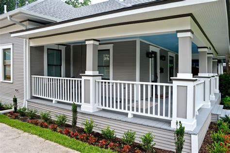 craftsman porch historic restoration after before texas best house