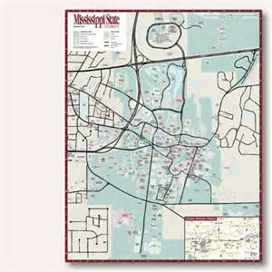 Ms State Campus Map by Hedberg Maps Custom Services Mississippi State University