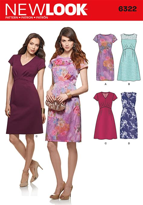 pattern review new look 6866 new look 6322 misses dress with bodice and skirt variations