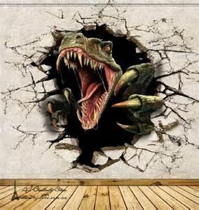 Superman Wall Murals 3d dinosaur break thr wall paper wall print decal wall