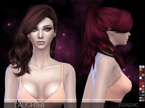 sims 4 custom content hair daughter female hair by stealthic at tsr 187 sims 4 updates