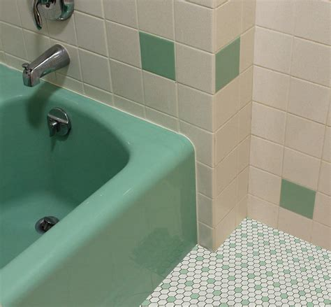 Green Bathroom Tile Ideas Vintage Green Bathroom White And Green Hex Tile