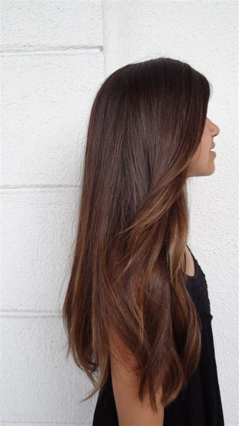 subtle colors subtle ombre hair brunette www imgkid com the image