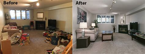 after stable overhaul living room best before and after before and after photosclutterfly inc organizing