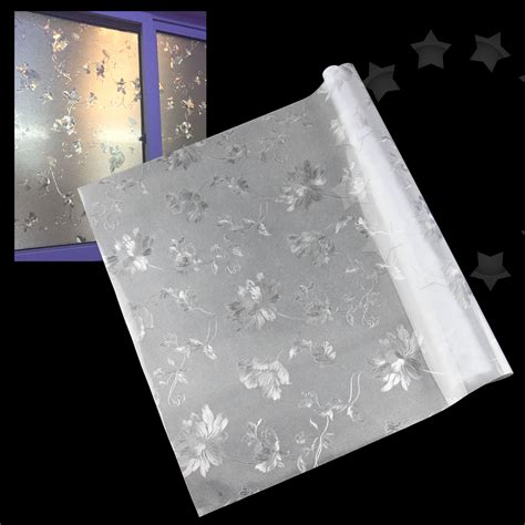 window glass cover new 60 x 200cm glass window frosted flower cover