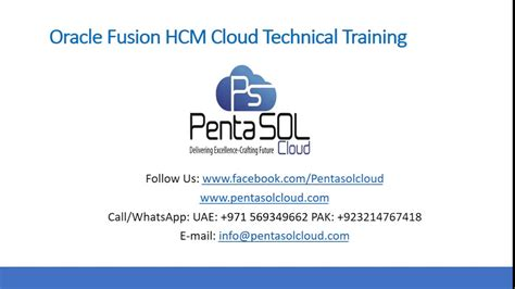 oracle fusion cloud hcm technical training youtube