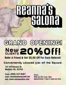 grand opening salon flyers quotes