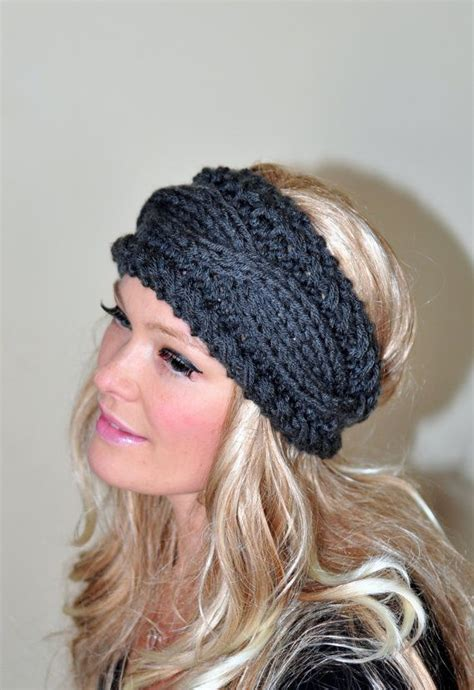winter headbands pattern cabled headband earwarmer braided crochet headband