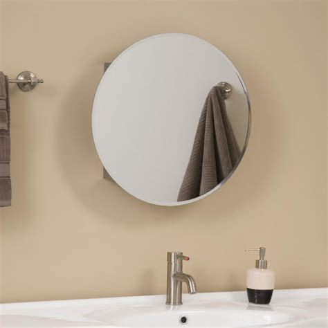 Ellipse Stainless Steel Medicine Cabinet   Bathroom