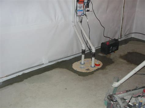 triplesafe sump pump basement waterproofing crawl new triplesafe sump pump system with cleanspace wall