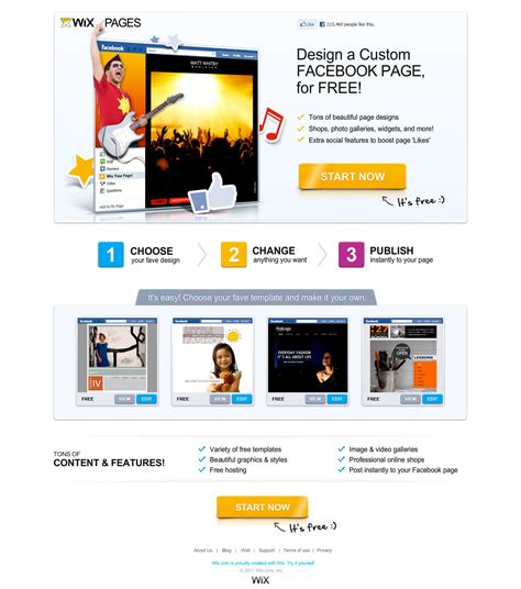 wix change template 20 landing page designs get picked apart analyzed for