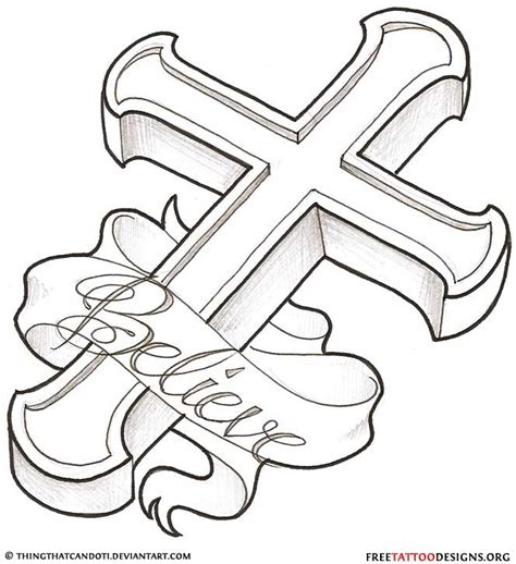 cross with banner tattoo designs 50 cross tattoos designs of holy christian