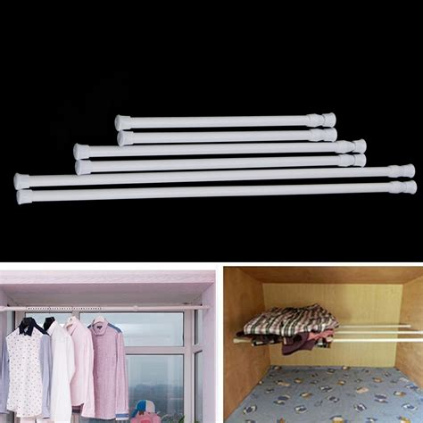 extendable curtain rods for net curtains 2 pcs spring loaded extendable voile bath net curtain