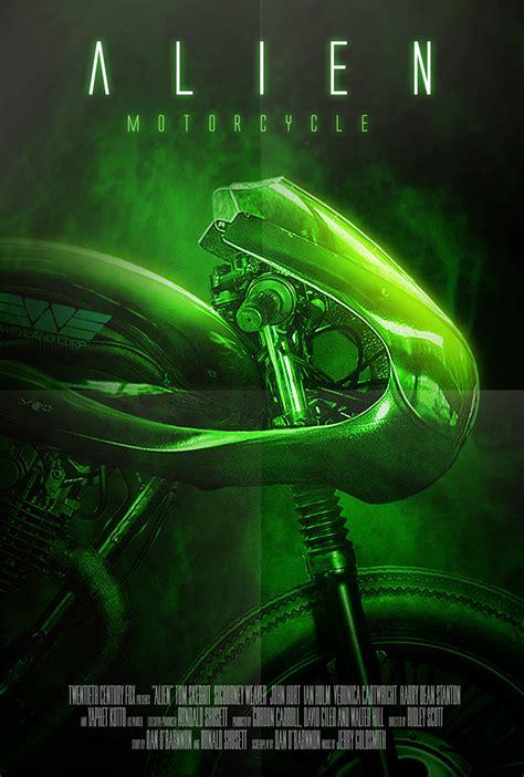 conceptual motorcycle designs based   alien