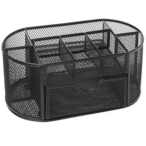 wire mesh drawer organizer black metal wire mesh 8 compartment office home desktop