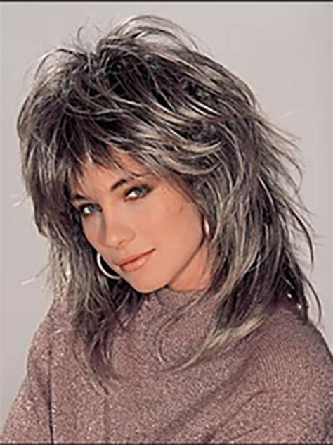 gray shag haircuts brittany 918 shb synthetic human hair blend wig by look of