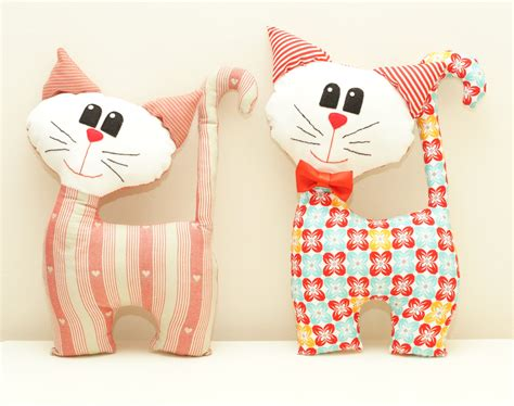 cat kitten pdf sewing pattern tutorial from cat sewing pattern pdf instant download plush stuffed toy