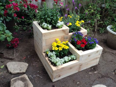Tier Planter by Items Similar To Four Tier Garden Planter Box For Herbs