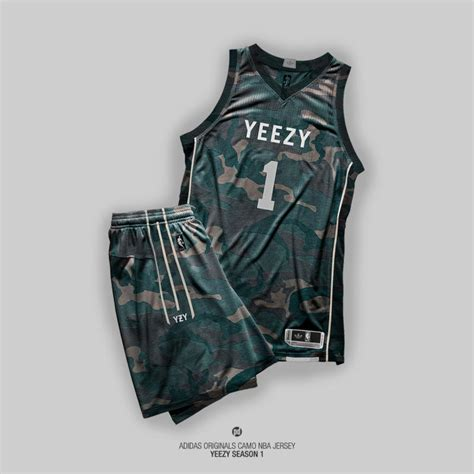 jersey design basketball camouflage an artist imagined what yeezy season 1 nba jerseys would