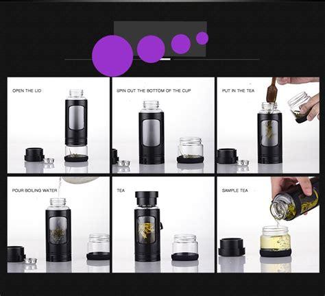 Botol Minum Infuser Penyaring Teh 280ml Botol Minum Infuser Penyaring Teh 280ml Black Jakartanotebook